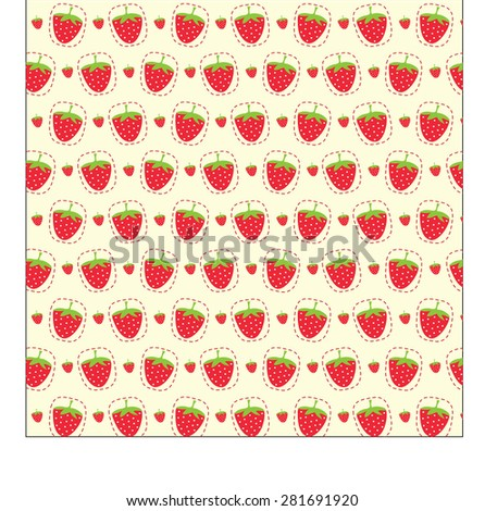doodles strawberry - stock vector