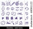 Doodles - web icons - stock vector