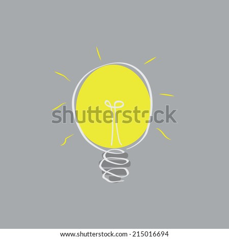 Doodling Light Bulb  - stock vector