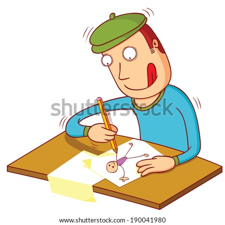 doodling time - stock vector