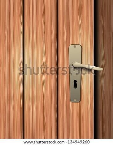 Door handle - stock vector