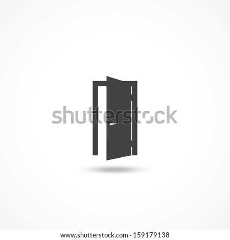Door icon - stock vector