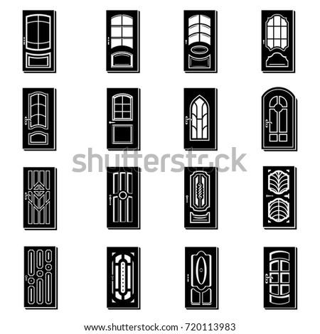 Door icons set. Simple illustration of 16 door vector icons for web  sc 1 st  Shutterstock & Door Icons Set Simple Illustration 16 Stock Vector 720113983 ...
