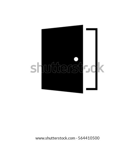 door icon trendy flat style isolated stock vector