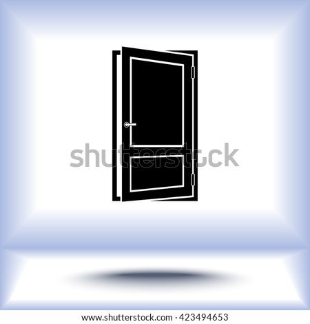 Door sign icon, vector illustration. Flat design style