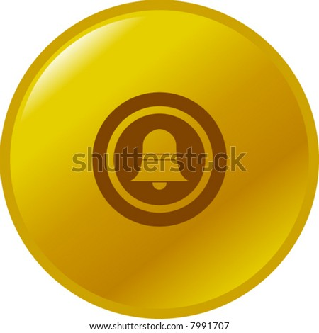 doorbell button - stock vector