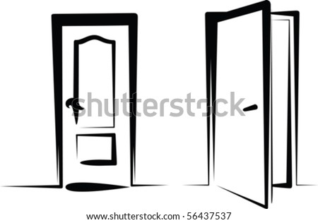 doors - stock vector