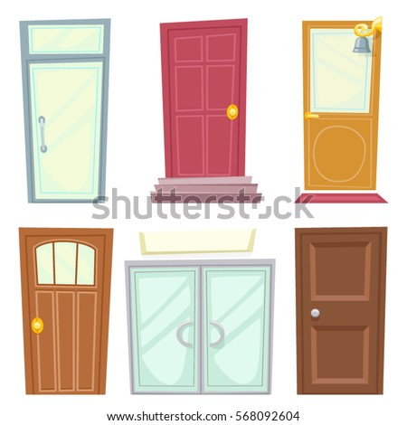 Doors Icons Set House Cartoon and Design Isolated Vector Illustration  sc 1 st  Shutterstock & Doors Icons Set House Cartoon Design Stock Vector 568092604 ... pezcame.com