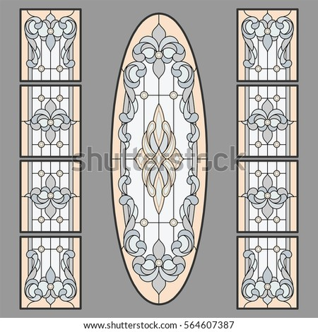 Baroque doors stock images royalty free images vectors for Baroque glass door