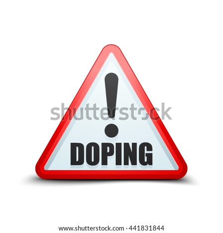 Doping Exclamation triangle sign - stock vector