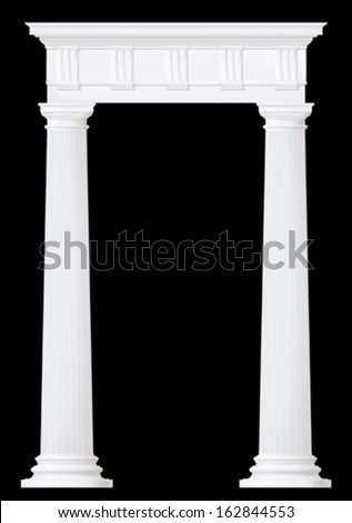 doric columns , vector drawing