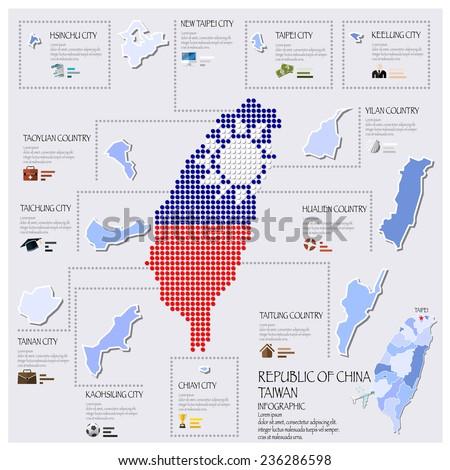 Dot Flag Map Sweden Infographic Design Stock Vector - Sweden map template