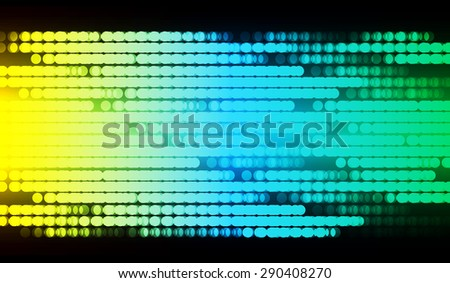 Dot background. Vector Illustration. dark yellow blue green lights Abstract Background. digitally image of light and stripes moving fast over black background. infographics - stock vector
