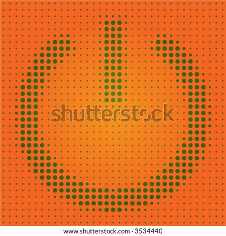 dot matrix power button symbol - stock vector