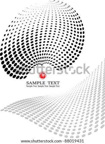 Dot Pattern Halftone Background