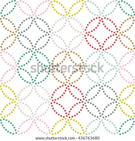 Dot texture. Seamless pattern. Abstract backdrop. Based on traditional asian ornament. Variation of Japanese motif. For decoration or printing on fabric. Pattern fills. - stock vector