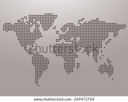 Dot World maps and globes business background - stock vector