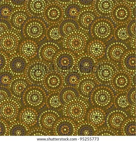 Dots circles background. Ceramic seamless - stock vector