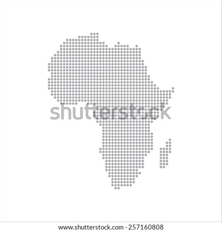 Dots Grey Map Africa vector Illustration - stock vector