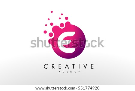 Dots Letter E Logo. E Letter Design Vector With Dots.