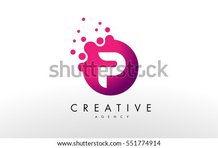 Dots Letter P Logo. P Letter Design Vector with Dots.