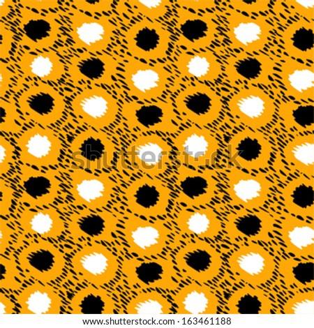 Dots seamless pattern - stock vector