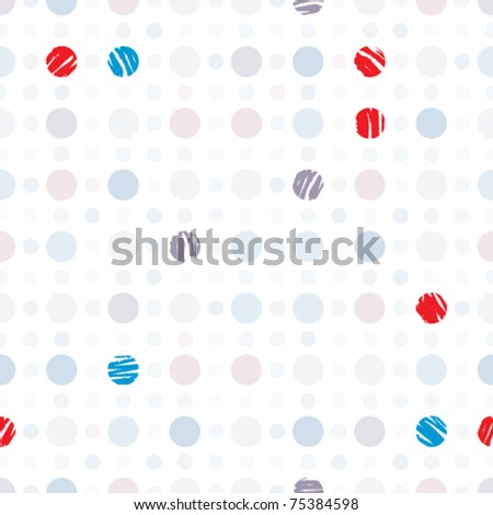 Dots seamless pattern. Geometric disco style vector wallpaper or website background. - stock vector