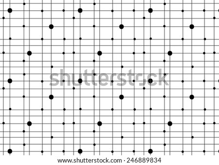 dots seamless vector pattern - stock vector