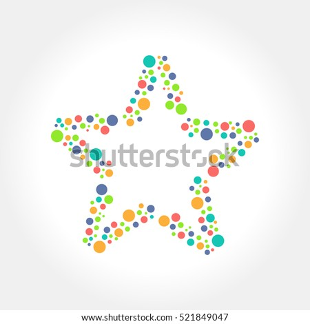Dots Star logo and icon design