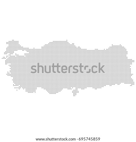 Dotted Abstract Turkey Map Vector Dot Stock Vector 695745859