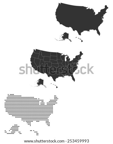 State Silhouette Stock Images RoyaltyFree Images Vectors - Us map white silhouette