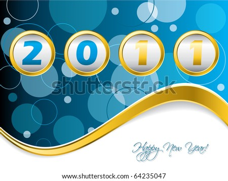 Dotted blue year counter - stock vector