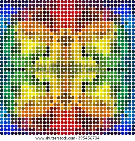 Dotted colorful rainbow mosaic - seamless pattern - stock vector
