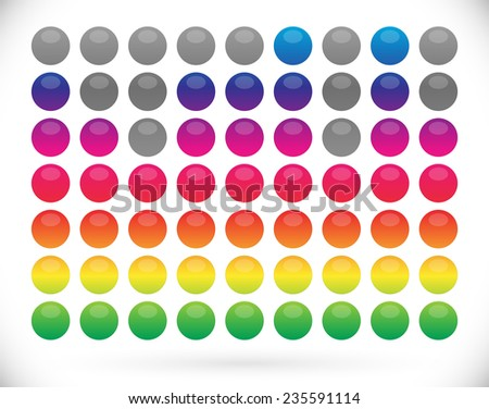 Dotted EQ - stock vector