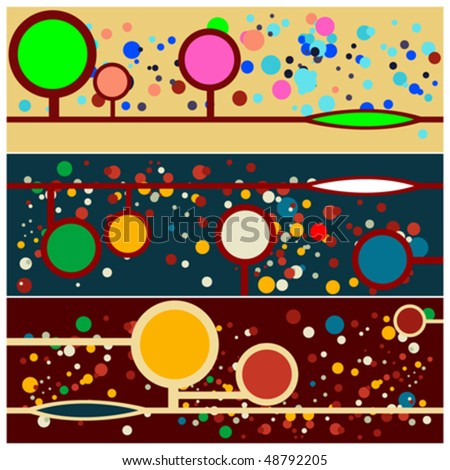 Dotted forest background - stock vector