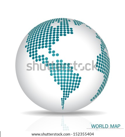 Dotted Globe. Vector illustration. - stock vector