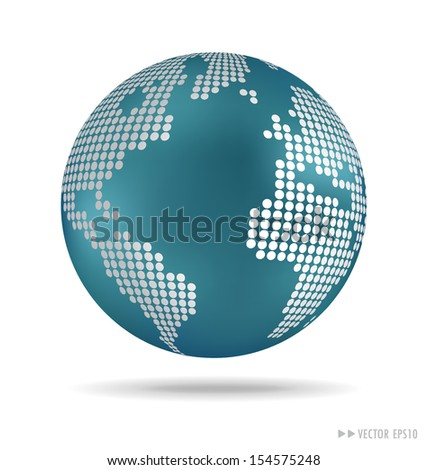 Dotted Globe. Vector illustration.