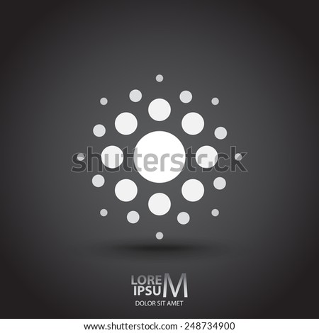 Dotted icon logotype template background - stock vector