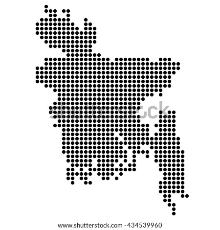 Dotted map - Bangladesh