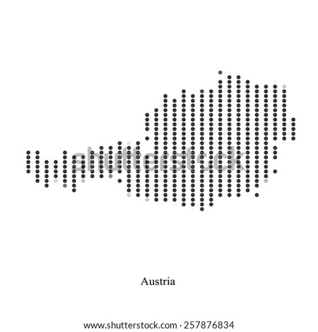 Dotted map of Austria for your design, concept Illustration. - stock vector