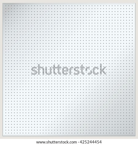 Dotted metal plate. Vector illustration