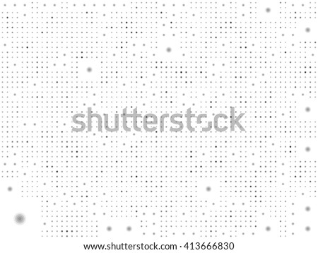 dotted pattern background in black and white - stock vector