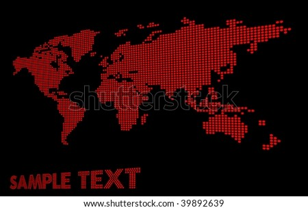 Dotted perspective world map vector stock vector 39892639 dotted perspective world map vector gumiabroncs Choice Image