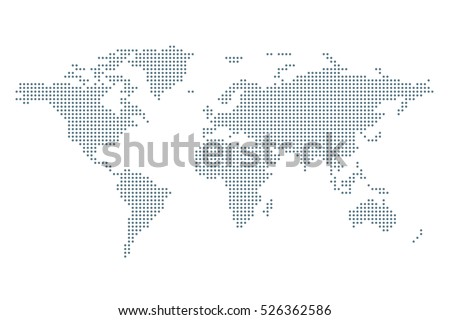 Dotted political world map template grey vectores en stock 526362586 dotted political world map template with grey points isolated on white background vector world gumiabroncs Gallery