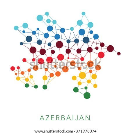 dotted texture Azerbaijan vector background