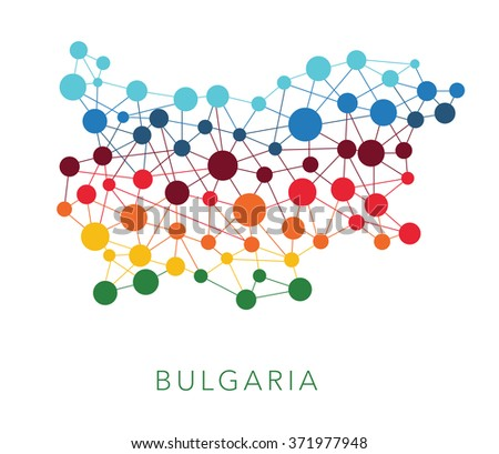 dotted texture Bulgaria vector background  - stock vector