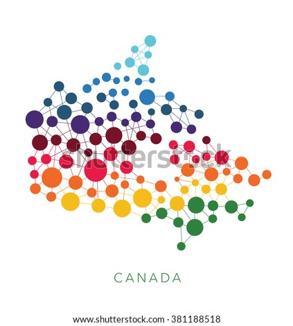 dotted texture Canada vector background  - stock vector