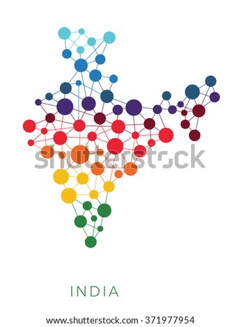dotted texture India vector background  - stock vector