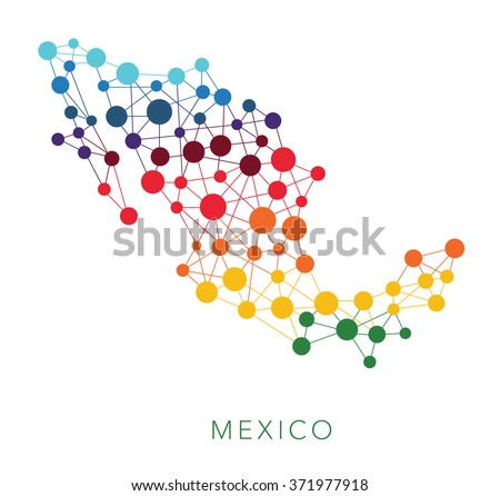 dotted texture Mexico vector background  - stock vector