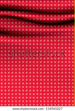 Dotted vector drapery. Soft wavy cloth. Clean, discreet color. Much space for your text or images. Decorative element for your presentation, or website. Can be use as cover.